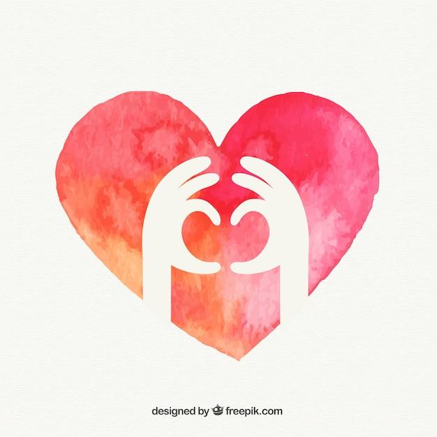 Manos Que Forman Un Corazón Descargar Vectores Gratis
