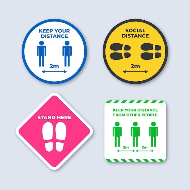 Mantenga su paquete de señales de distancia Vector Premium