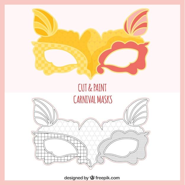 Manualidades de m scaras de carnaval descargar vectores gratis - Mascaras para carnaval manualidades ...