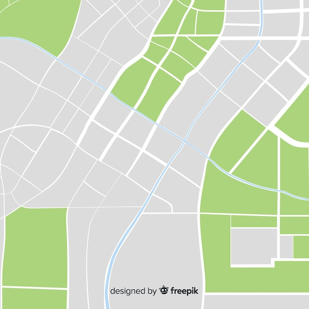 Mapa coloreado de la ciudad con información vector gratuito