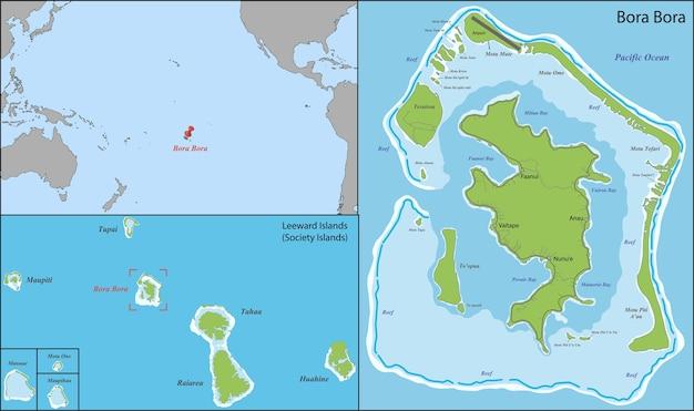 bora bora mapa Mapa de bora bora | Descargar Vectores Premium bora bora mapa