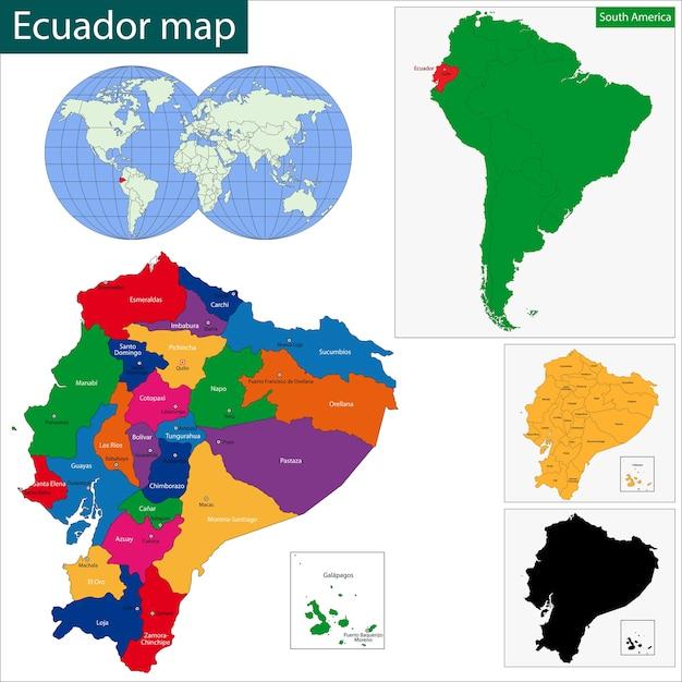 Ecuador Mapa Del Mundo.Vector Premium Mapa De Ecuador