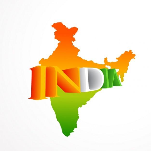 Mapa indio vector gratuito