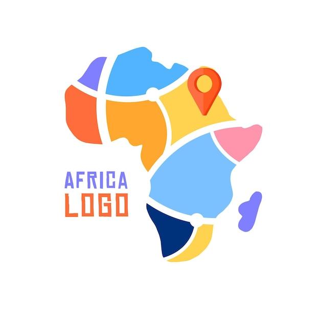Mapa con logo de áfrica Vector Premium