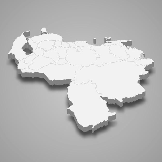 Mapa del país con fronteras Vector Premium