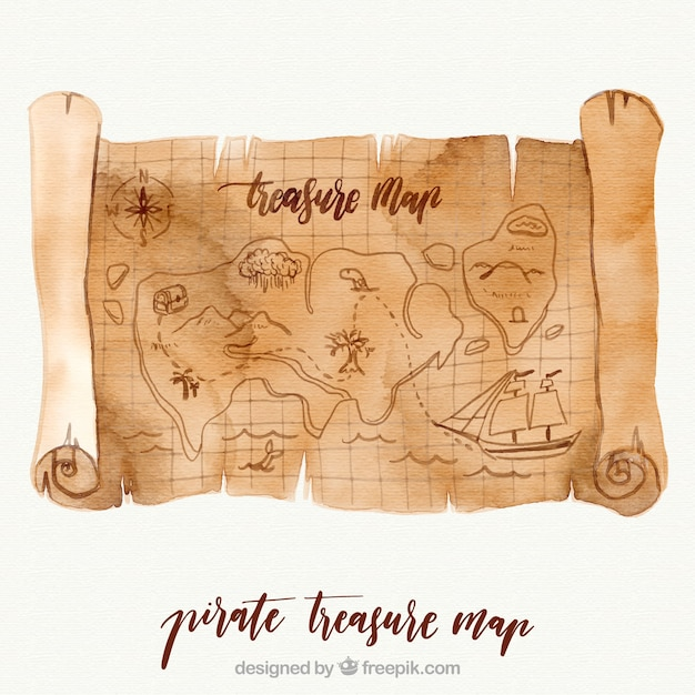 simple treasure maps vintage - photo #39