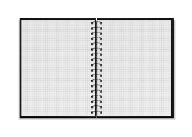 Maqueta de bloc de notas en espiral Vector Premium