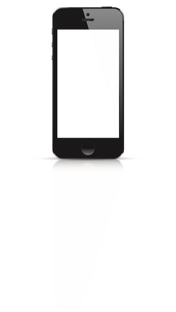 Maqueta de teléfono inteligente receptiva altamente detallada ...