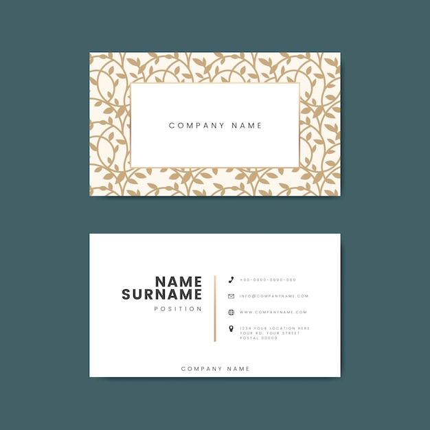Maqueta de diseño de tarjetas premium vector gratuito