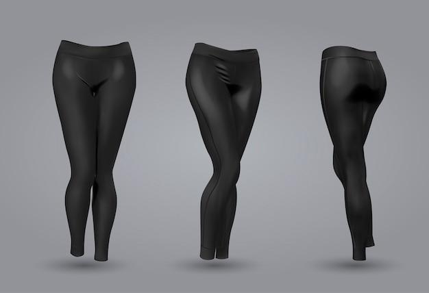 bien barato gama exclusiva hacer un pedido Maqueta de leggings negros de mujer. | Vector Premium