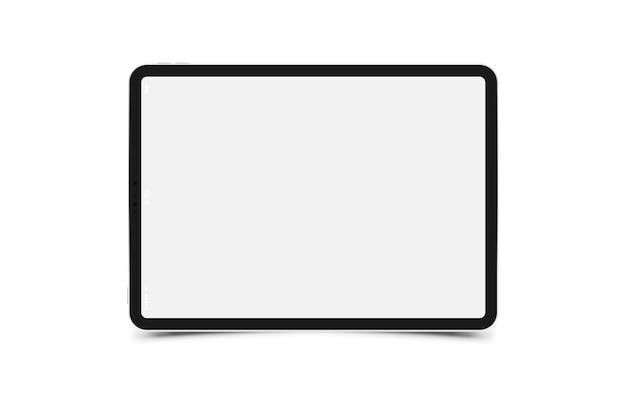 Maqueta realista tableta negra Vector Premium
