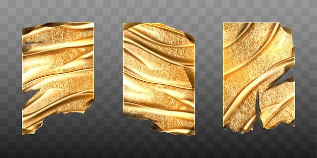 Maqueta de vectores de láminas de papel de oro viejo vector gratuito