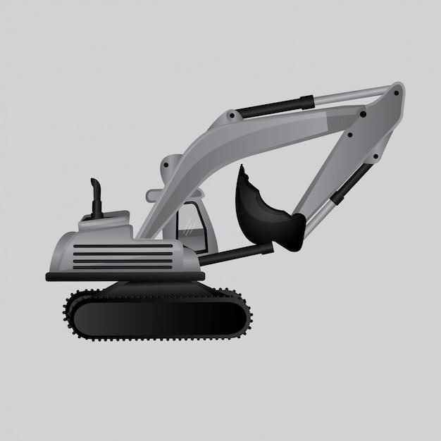 Maquina de construccion vector gratuito