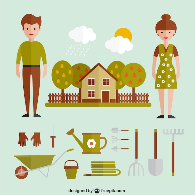 Maquinaria de jard n y casa descargar vectores gratis - Maquinaria de jardin ...
