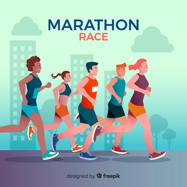 Maratón vector gratuito