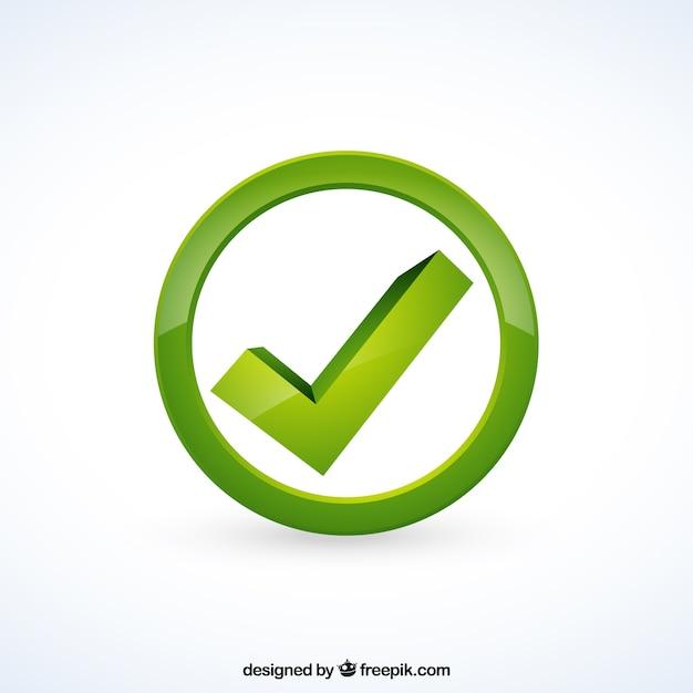 Marca de verificación verde Vector Premium