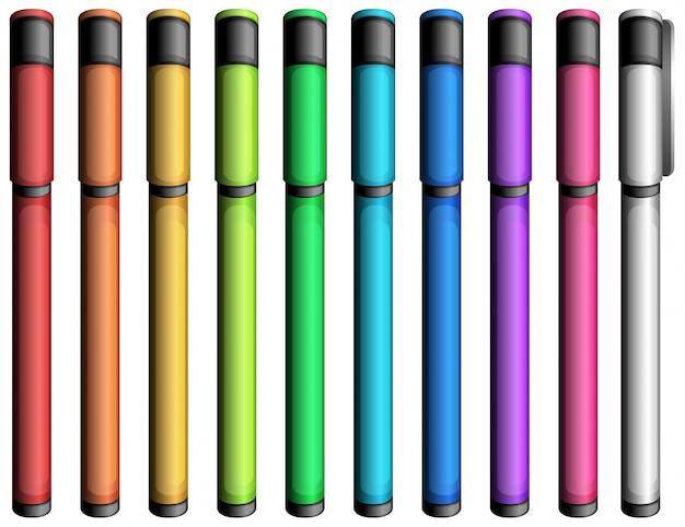 Plumones De Colores Animados