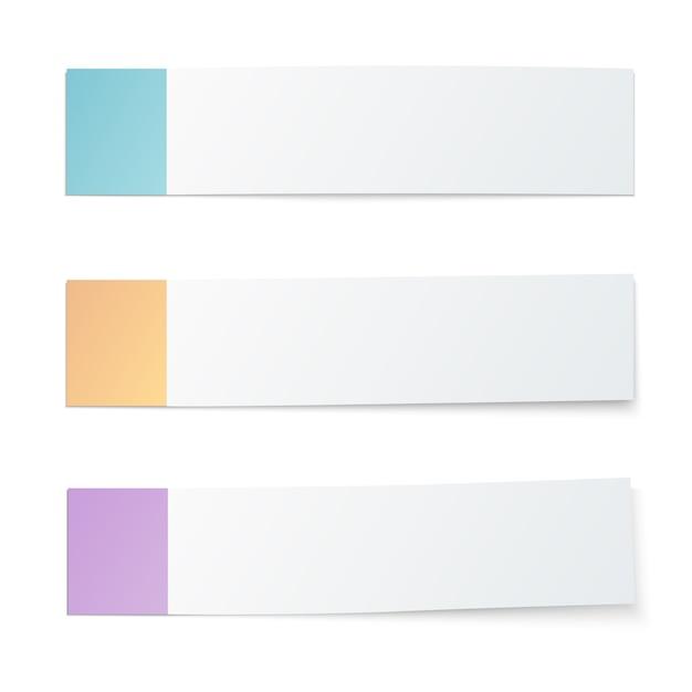 Marcadores de raicillas de colores vector gratuito