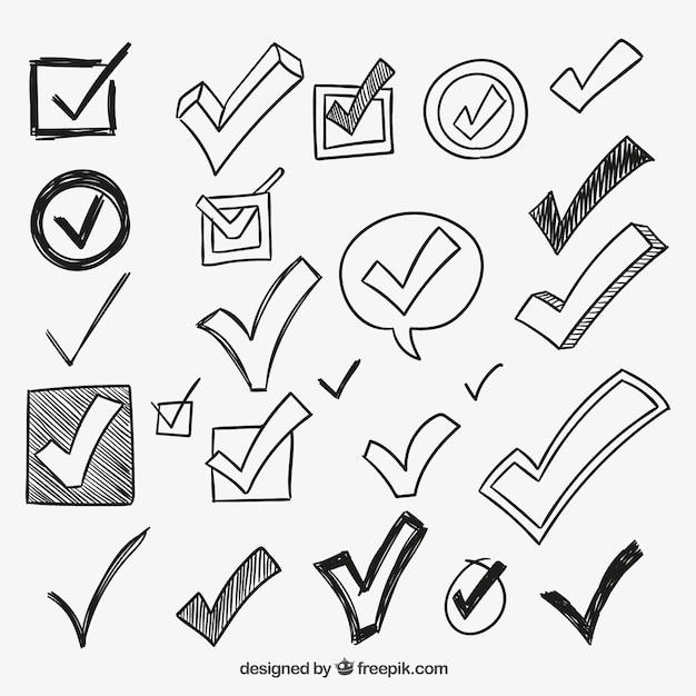 Marcas de verificación vector gratuito