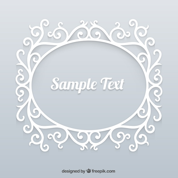 Marco blanco ornamental | Descargar Vectores gratis