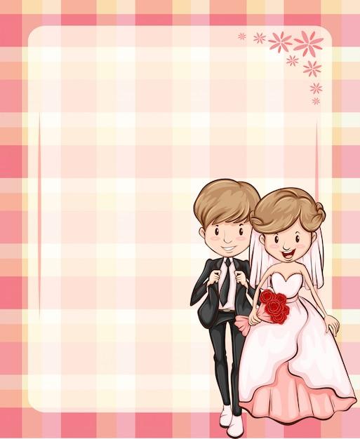 Marco de la boda vector gratuito