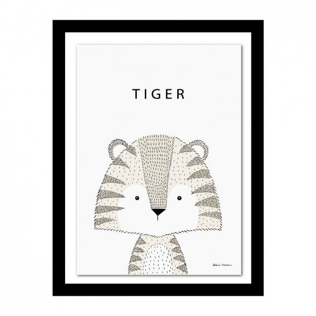 Marco con diseño de tigre | Descargar Vectores gratis