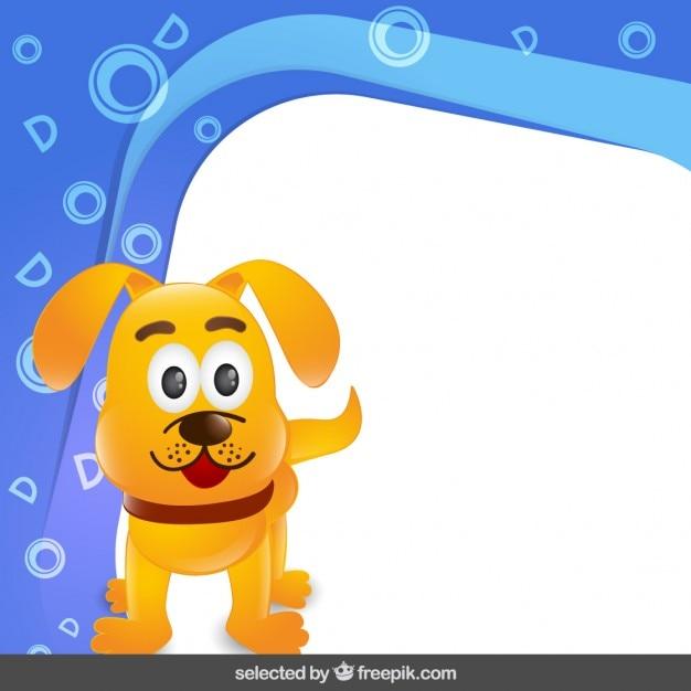 Marco con el perro divertido | Descargar Vectores gratis