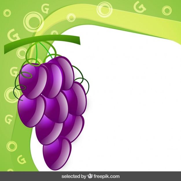 Marco con el racimo de la uva | Descargar Vectores gratis