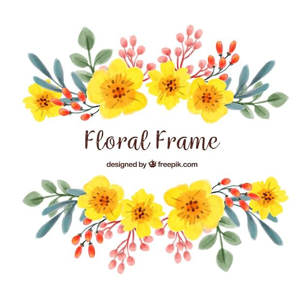 Marco con flores coloridas | Descargar Vectores gratis