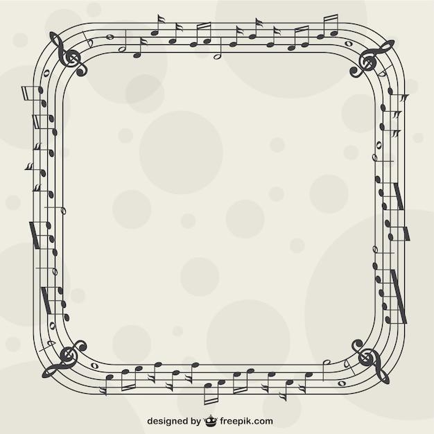 Marco con notas musicales   Descargar Vectores gratis
