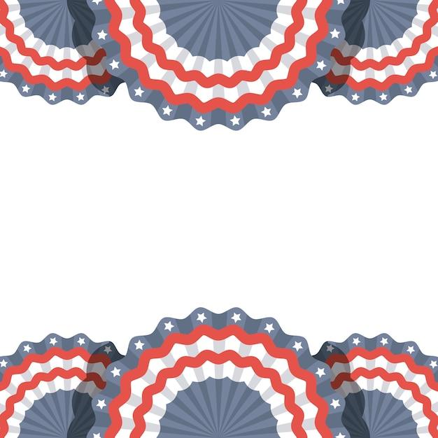 Marco con objetos decorativos con colores de la bandera de estados ...