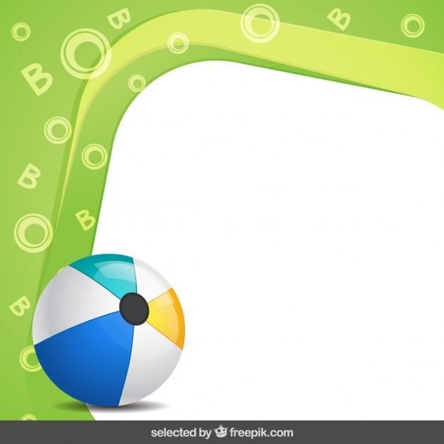 Marco con pelota de verano | Descargar Vectores gratis