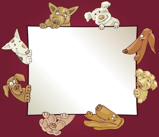 Marco con perros | Descargar Vectores Premium