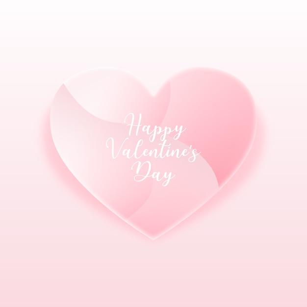 Marco de corazón rosa para el día de san valentín vector gratuito