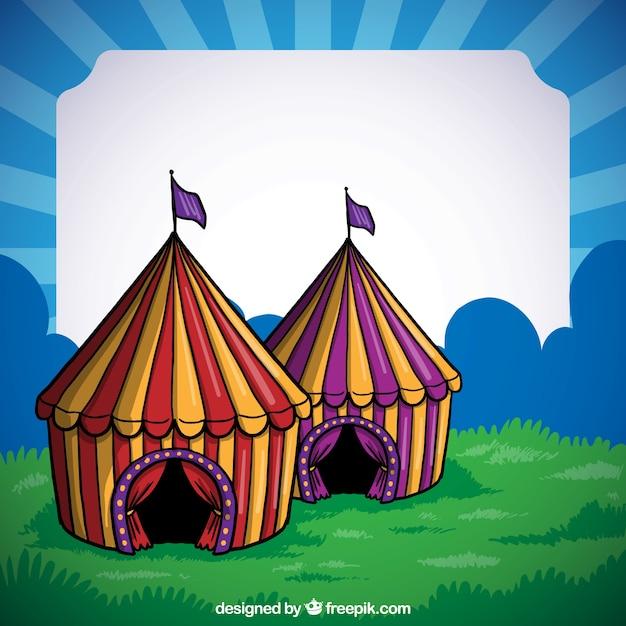 Marco de carpas de circo dibujado a mano descargar for Mano mano carpas
