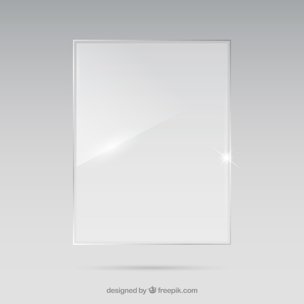 Marco de cristal de forma rectangular en estilo realista | Descargar ...