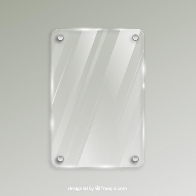 Marco de cristal en estilo realista | Descargar Vectores gratis