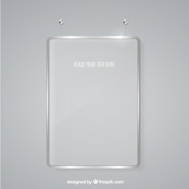 Marco de cristal para mensaje | Descargar Vectores gratis