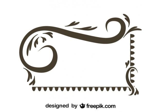 Marco de diseño retro asimétrico | Descargar Vectores gratis