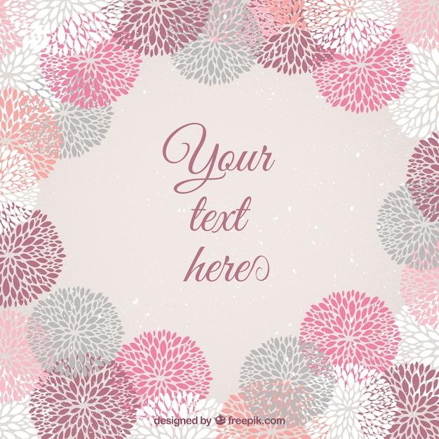 Marco de flores estampadas | Descargar Vectores gratis