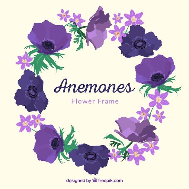 Marco de flores moradas | Descargar Vectores gratis