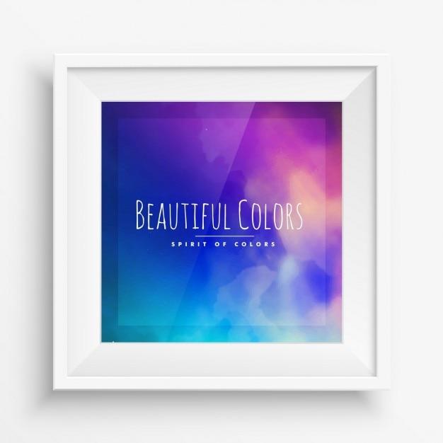 Marco de pared con p ster de colores descargar vectores - Marcos para posters ...