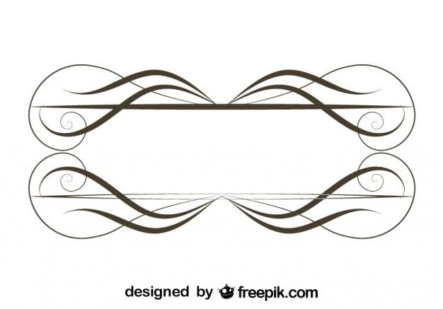 Marco de tallos finos minimalista ornamental retro for Formas ornamentales