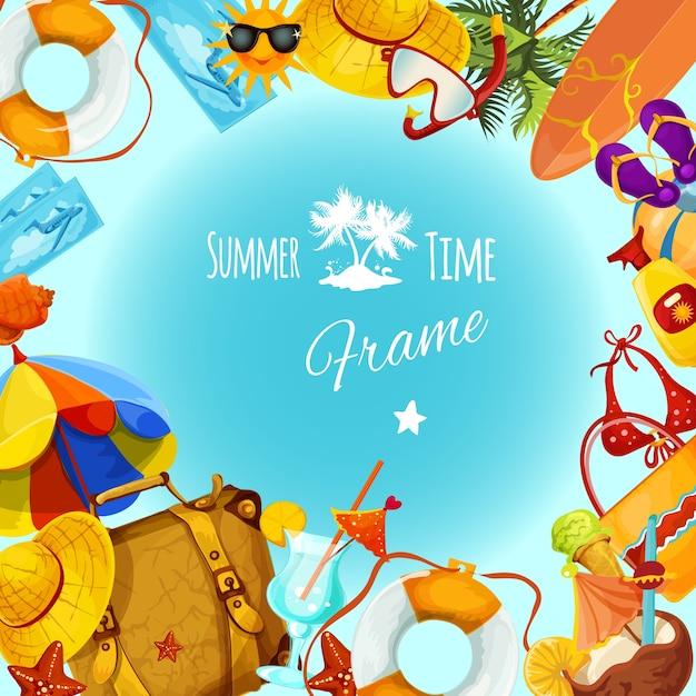 Marco de vacaciones de verano | Descargar Vectores gratis