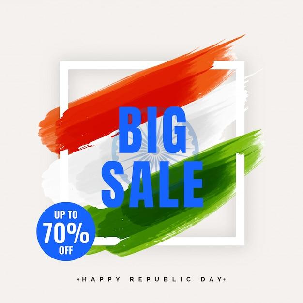 Marco del fondo de la bandera india de imagen de gran venta con ...