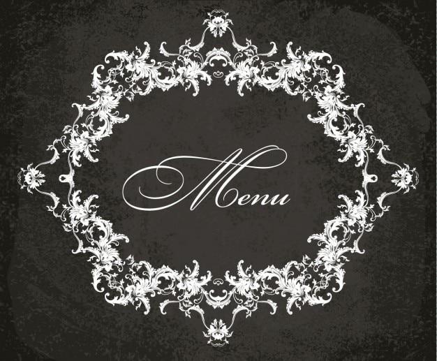 Marco del menú en estilo rococó | Descargar Vectores gratis