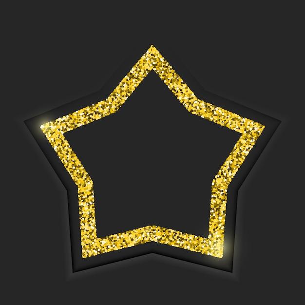 Marco estrella dorada Vector Premium