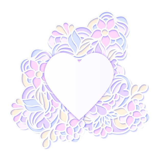 Marco floral colorido Vector Premium
