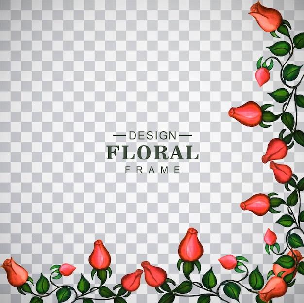 Marco floral con flores rojas | Descargar Vectores gratis