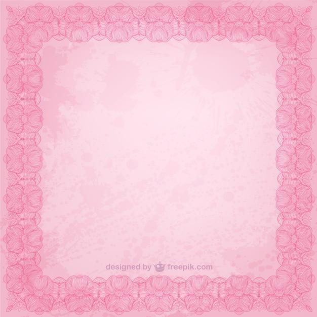 Marco floral de color rosa | Descargar Vectores gratis
